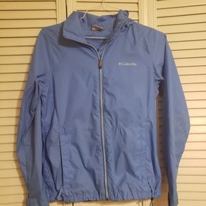 Columbia blue rain women's jacket size sm preowned